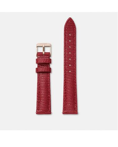 Bracelet 16mm Cerise Lizard/ Rose Gold
