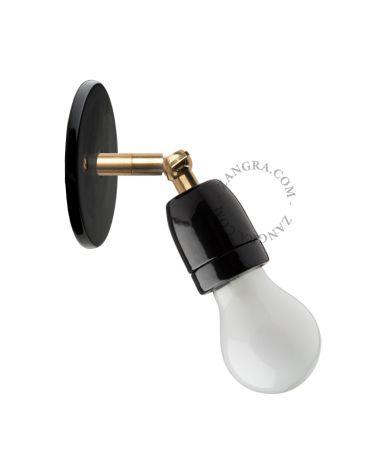ZG lampe articulable en porcelaine noir 036.003