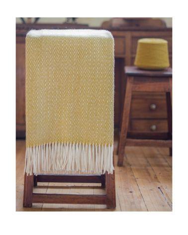 Plaid CHICO CHEVRON 100% laine 130x180cm