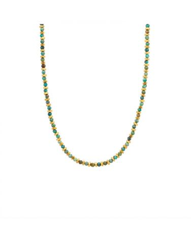 collier JAIPUR écrou BIG turquoise